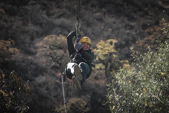 žena na laně