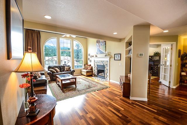 světla v obývacím pokoji