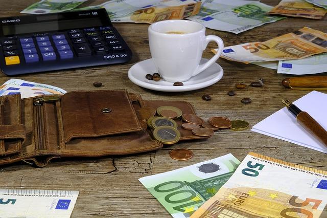 rozložené peníze